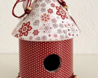 "Decorative birdhouse ""Winter flowers"""