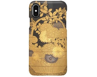 "iPhone case  "" Inrō with Basket of Spring Flowers ""  iPhone5/5s/SE/6/6s/6Plus/6sPlus/7/7Plus/8/8Plus/X"