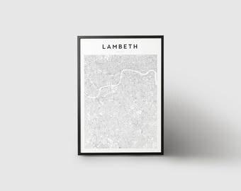 Lambeth Map Print