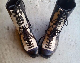 vintage ankle boots retro stiefeletten boxeur chaussures shoes scarpe vintage stivaletti tronchetti scarponcini