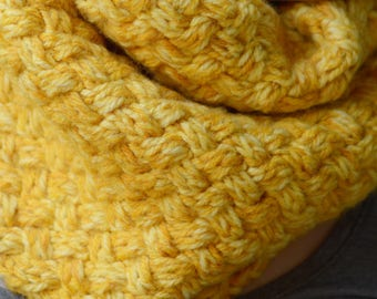 Fields of Gogh - easy cowl pattern for an Infinity scarf | winter accessory | best knits for fall | lovely scarf pattern | PDF download