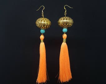 ANAIS Orange Bohemian earrings