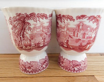 Double English Vintage Egg Cups