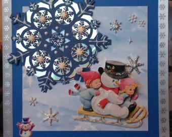 children 3D Morehead card in the snow on a cd