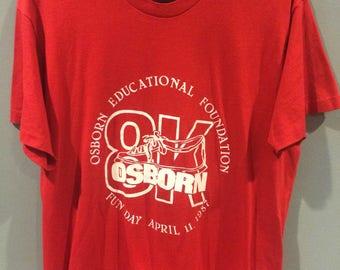 1987 8k run shirt