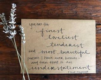 F. Scott Fitzgerald card