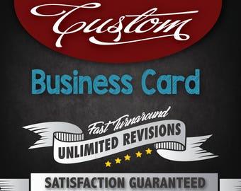 Custom Business Card Design, Business Card, Custom Design, Business Card Single Side or Both Side
