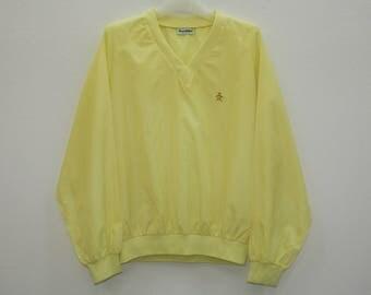 Munsingwear Grand Slam Yellow Pullover Lightweight Jacket Size M