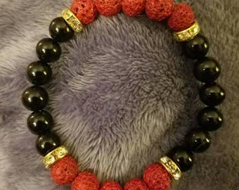 Black and Red Diffuser Bracelet