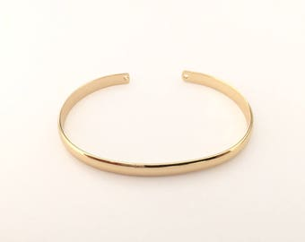 Bangle Bracelet gold plated fine 24 k 4mm for jewelry designs