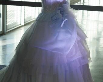 Unique piece - Princess wedding dress model cumin