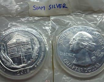 America The Beautiful Silver Coin 5 oz (BU) 2015 Homestead