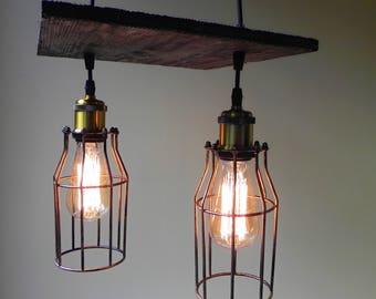 wood pendant light pendant lamp ceiling light rustic chandelier industrial chandelier - Edison Chandelier