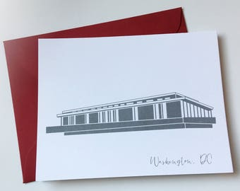 Washington DC Kennedy Center Card A2