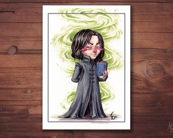 A6 postcard - Severus Snape - Harry Potter Fanart card