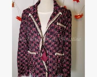 Lanvin Metallic Boucle Jacket
