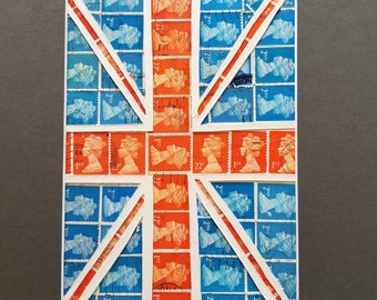 Postage Stamp Collage - British flag