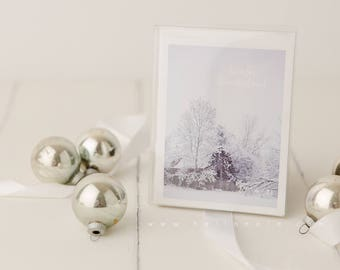Winter Wonderland Snowy Scene Winter Holiday Greeting Card 5 card pack