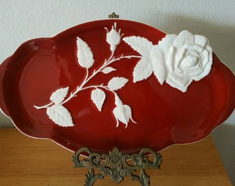 Royal Winton Rose Footed Serving Platter English Vintage China High Tea
