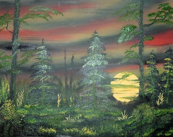 Oil Painting No: 015- Restful Evening.