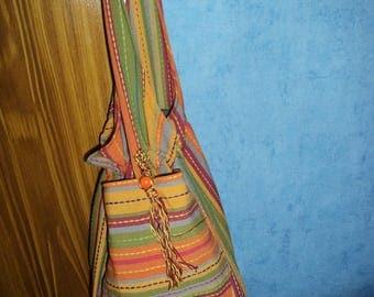 Women cotton striped multicolored pattern ethnic unique