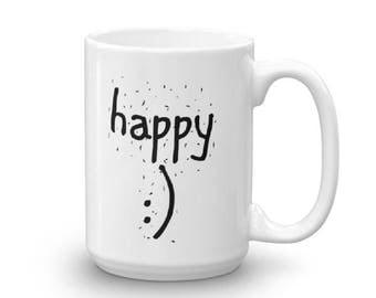 HAPPY Unique Coffee Mug
