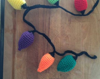 Crocheted christmas bunting
