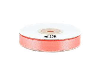 12mm-bobine de 25 metres de ruban satin  CORAIL ref 238
