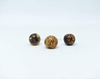 Acai - 15 Acai beads - Zebra