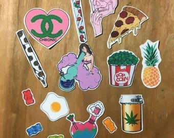 Stoner girl sticker pack