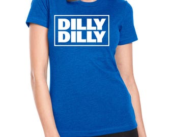 DILLY DILLY Square Design Women's Poly-Cotton T-shirt