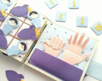 Quiet Book Boy - Felt Quiet Book- Quiet book- Travel Activities - Quiet Book Pages - Toddler Activities - Custom Quiet Book