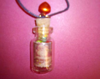 Christmas of yesteryear vial necklace