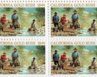 California Gold Rush  - 1999 - Full Sheet (20) - US Postage Stamps  - Mint - Unused - Scott 3316
