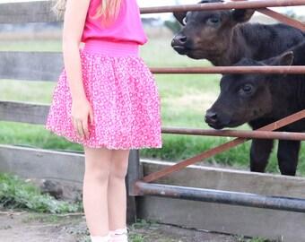 Girls Skirt, Kids tutu, Girls Tutu, Flower Skirt, Pink Skirt, Pink Girls tutu, tutu