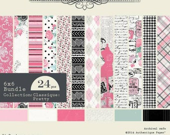 Block 24 authentic Pretty 15 x 15 paper sheets