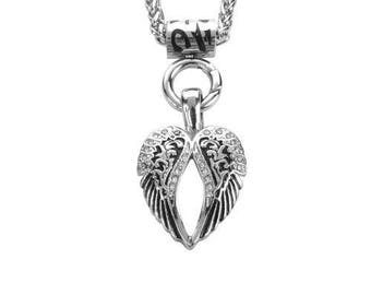 Stainless Steel Ladies Angel Wing Bling Necklace