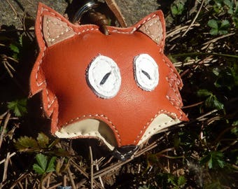 Fox Leather Keychain