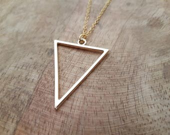 Necklace Triangle Gold