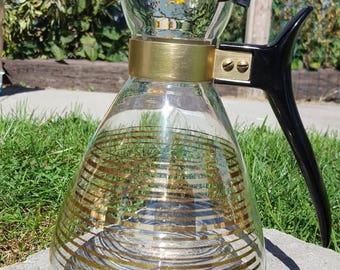 Pyrex coffee carafe warmer atomic vintage kitchen