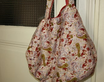 Bag tote bag, reversible bag made from cotton and linen 50 x 35