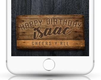 Vintage Birthday Snapchat Filter, Wood Snapchat Filter, Snapchat Men, Country Birthday, Guys Snapchat Filter, Country Wood Geofilter