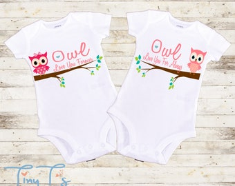 Twins Onesies®, Twins Baby Gifts, Twins Outfits, Twins Gifts, Twin Girls Baby Outfit, Twins Baby Shower Gifts, Twins Birthday Outfits