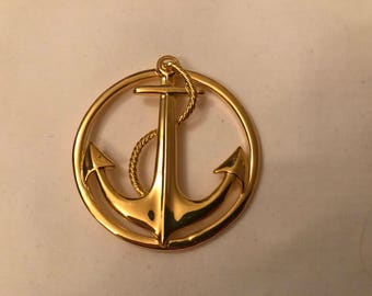 Napier Large Anchor Brooch