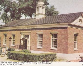 Walterboro, South Carolina Vintage Postcard - United States Post Office