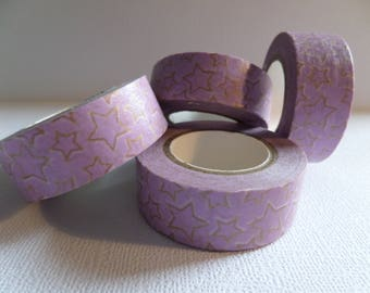 Masking tape-Purple Star Gold