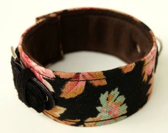 Dog collar/dog collar floral pattern-dog collar