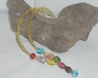 Multi Color Y Necklace