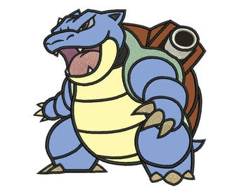 Blastoise Applique Design - 4 SIZES