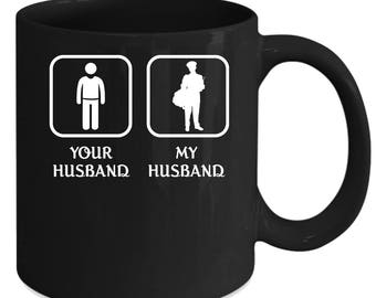 Mailman/Mailcarrier Your husband My husband Gift, Christmas, Birthday Present for the best Husband Black Mug